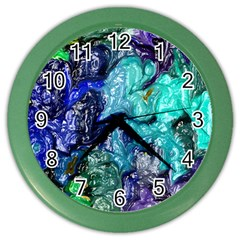 Strange Abstract 1 Color Wall Clocks by MoreColorsinLife