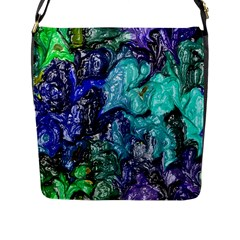 Strange Abstract 1 Flap Messenger Bag (l)  by MoreColorsinLife