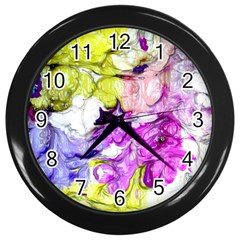 Strange Abstract 2 Soft Wall Clocks (black) by MoreColorsinLife