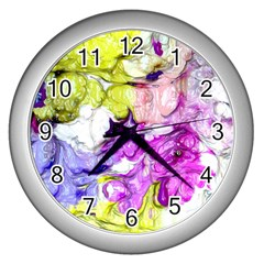 Strange Abstract 2 Soft Wall Clocks (silver)  by MoreColorsinLife