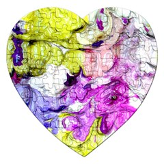 Strange Abstract 2 Soft Jigsaw Puzzle (heart) by MoreColorsinLife