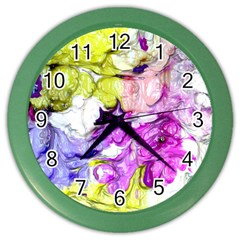 Strange Abstract 2 Soft Color Wall Clocks by MoreColorsinLife