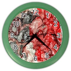 Strange Abstract 3 Color Wall Clocks by MoreColorsinLife