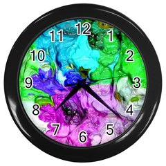 Strange Abstract 4 Wall Clocks (black) by MoreColorsinLife