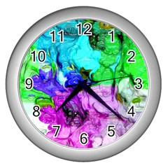 Strange Abstract 4 Wall Clocks (silver)  by MoreColorsinLife