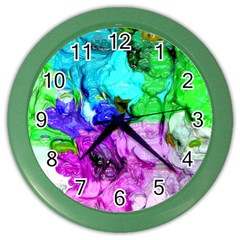 Strange Abstract 4 Color Wall Clocks by MoreColorsinLife