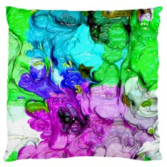 Strange Abstract 4 Large Cushion Cases (two Sides)  by MoreColorsinLife