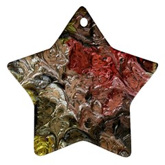 Strange Abstract 5 Ornament (star)  by MoreColorsinLife
