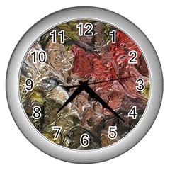 Strange Abstract 5 Wall Clocks (silver)  by MoreColorsinLife