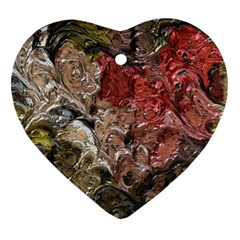 Strange Abstract 5 Heart Ornament (2 Sides) by MoreColorsinLife