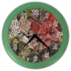 Strange Abstract 5 Color Wall Clocks by MoreColorsinLife