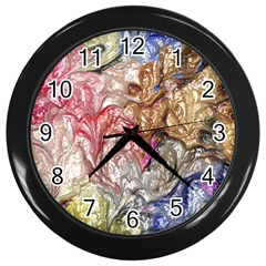 Strange Abstract 6 Wall Clocks (black) by MoreColorsinLife