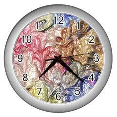 Strange Abstract 6 Wall Clocks (silver)  by MoreColorsinLife