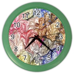 Strange Abstract 6 Color Wall Clocks by MoreColorsinLife