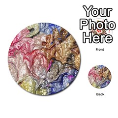 Strange Abstract 6 Multi Purpose Cards (round)  by MoreColorsinLife