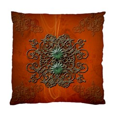 Wonderful Floral Elements On Soft Red Background Standard Cushion Cases (two Sides)  by FantasyWorld7