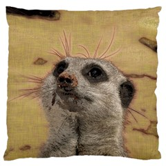 Meerkat 2 Large Cushion Cases (two Sides)  by ImpressiveMoments