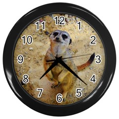 Lovely Meerkat 515p Wall Clocks (black) by ImpressiveMoments