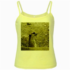 Adorable Meerkat Yellow Spaghetti Tanks by ImpressiveMoments