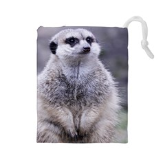 Adorable Meerkat 03 Drawstring Pouches (large)  by ImpressiveMoments