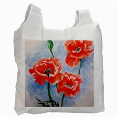 Poppies Recycle Bag (two Side)  by ArtByThree