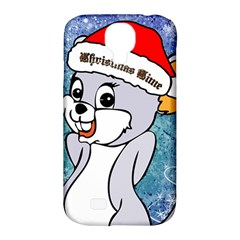 Funny Cute Christmas Mouse With Christmas Tree And Snowflakses Samsung Galaxy S4 Classic Hardshell Case (pc+silicone) by FantasyWorld7