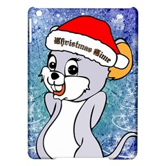Funny Cute Christmas Mouse With Christmas Tree And Snowflakses Ipad Air Hardshell Cases by FantasyWorld7