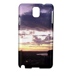 Sunset Over The Valley Samsung Galaxy Note 3 N9005 Hardshell Case by canvasngiftshop
