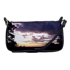 Sunset Over The Valley Shoulder Clutch Bags by canvasngiftshop