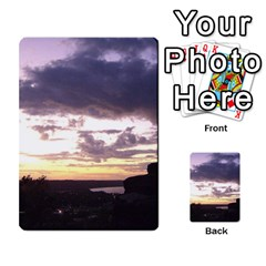 Sunset Over The Valley Multi Purpose Cards (rectangle)  by canvasngiftshop