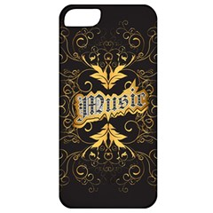 Music The Word With Wonderful Decorative Floral Elements In Gold Apple Iphone 5 Classic Hardshell Case by FantasyWorld7