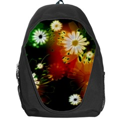 Awesome Flowers In Glowing Lights Backpack Bag by FantasyWorld7