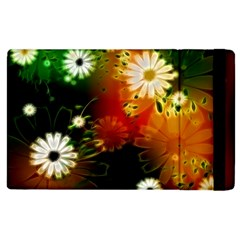 Awesome Flowers In Glowing Lights Apple Ipad 3/4 Flip Case by FantasyWorld7
