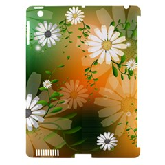 Beautiful Flowers With Leaves On Soft Background Apple Ipad 3/4 Hardshell Case (compatible With Smart Cover) by FantasyWorld7
