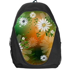 Beautiful Flowers With Leaves On Soft Background Backpack Bag by FantasyWorld7