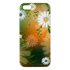 Beautiful Flowers With Leaves On Soft Background Apple Iphone 5 Premium Hardshell Case by FantasyWorld7