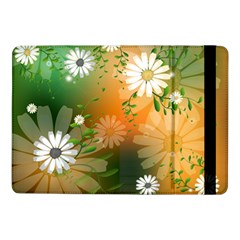 Beautiful Flowers With Leaves On Soft Background Samsung Galaxy Tab Pro 10 1  Flip Case by FantasyWorld7