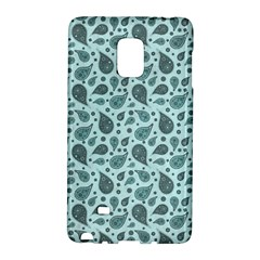 Vintage Paisley Aqua Galaxy Note Edge by MoreColorsinLife