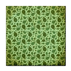 Vintage Paisley Green Tile Coasters by MoreColorsinLife