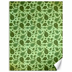 Vintage Paisley Green Canvas 18  X 24   by MoreColorsinLife