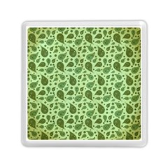 Vintage Paisley Green Memory Card Reader (square)  by MoreColorsinLife