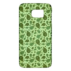 Vintage Paisley Green Galaxy S6 by MoreColorsinLife