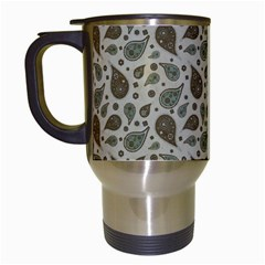 Vintage Paisley Grey Travel Mugs (white) by MoreColorsinLife