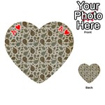 Vintage Paisley Grey Playing Cards 54 (Heart)  Front - HeartA