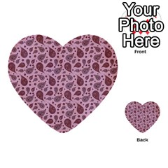 Vintage Paisley Pink Multi Purpose Cards (heart)