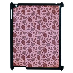 Vintage Paisley Pink Apple Ipad 2 Case (black) by MoreColorsinLife