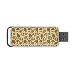 Vintage Paisley Portable Usb Flash (one Side) by MoreColorsinLife