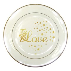 Love(ai) Gold Porcelain Display Plate by walala