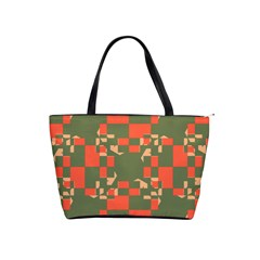 Green Orange Shapes Classic Shoulder Handbag by LalyLauraFLM