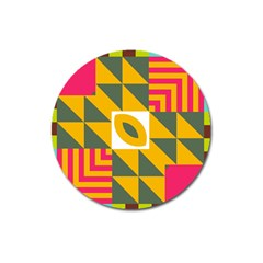 Shapes In A Mirror Magnet 3  (round) by LalyLauraFLM